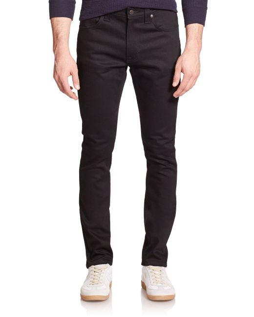 Nudie jeans Lean Dean Carrot Slimfit Jeans in Black for Men  Lyst