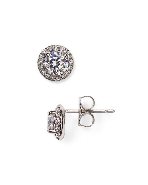 Nadri | Metallic Cubic Zirconia Stud Earrings | Lyst