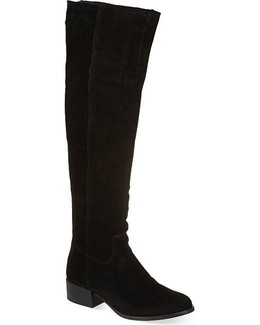 carvela kurt geiger whit knee high boots in black lyst