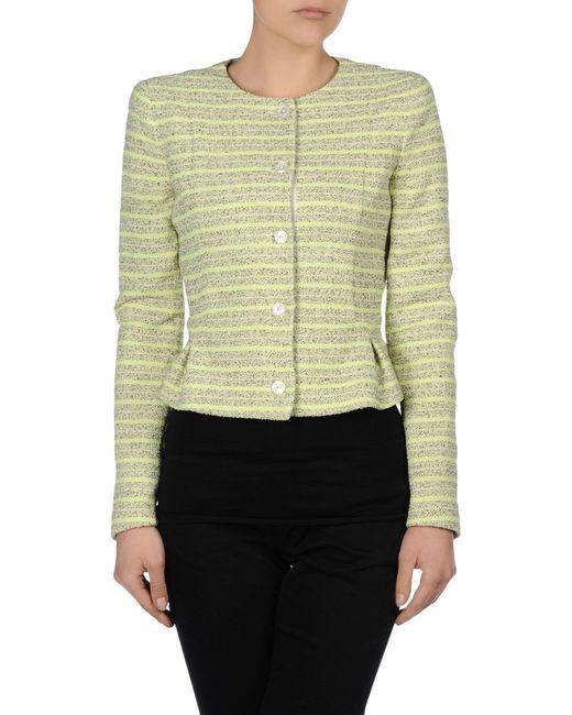 Armani Jeans | Green Neon Bouclã© Jacket | Lyst