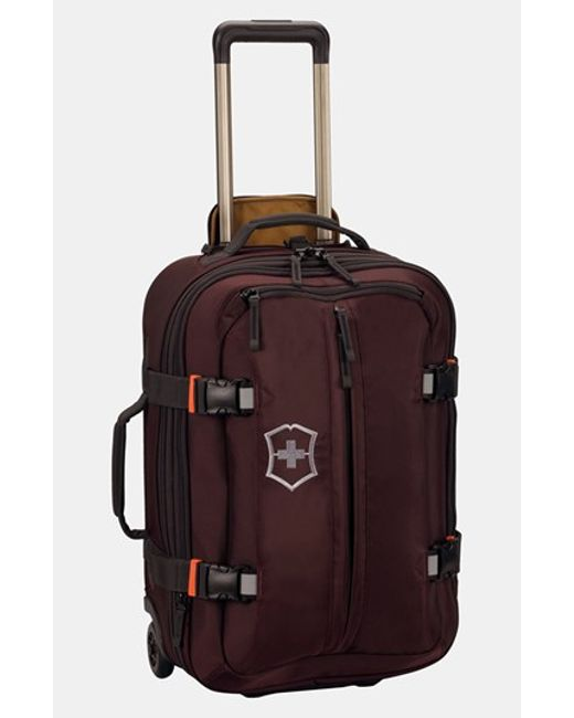 Victorinox Victorinox Swiss Army Wheeled Carry On In Black For Men Lyst