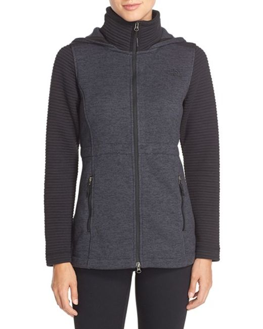 The North Face | Black 'indi' Fleece Jacket | Lyst