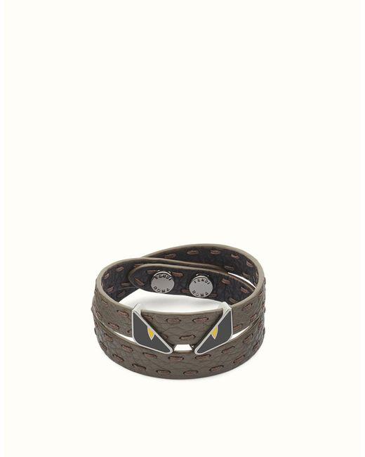 Fendi | Black Bracelet Bracelet for Men | Lyst