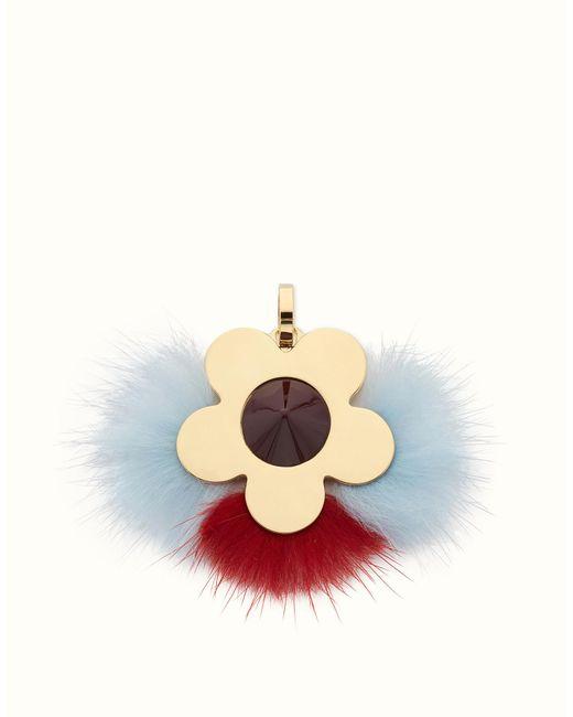 Fendi | Gray Flower Charm Flower Charm | Lyst