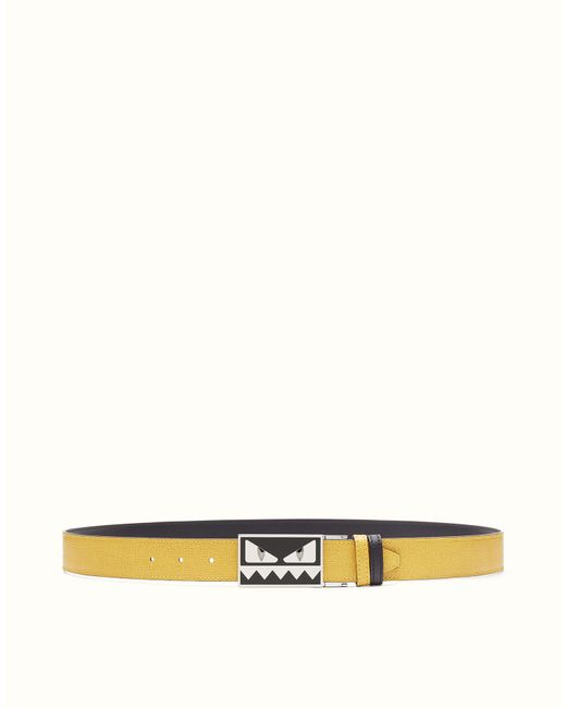 Fendi - Yellow Belt Belt for Men - Lyst
