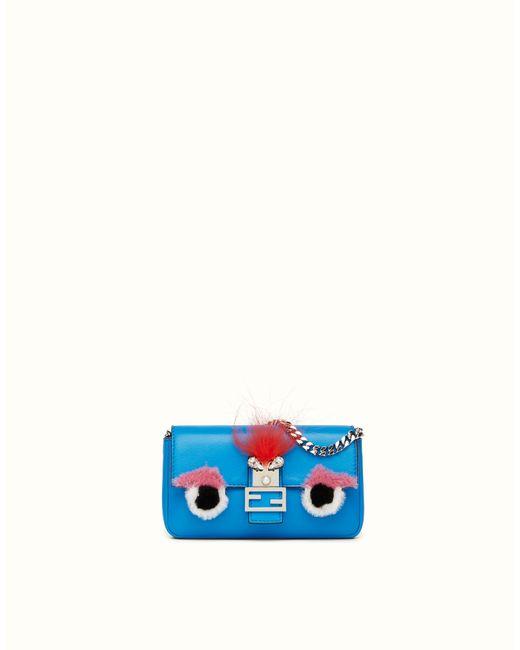Fendi | Blue Buggies Baguette Micro | Lyst