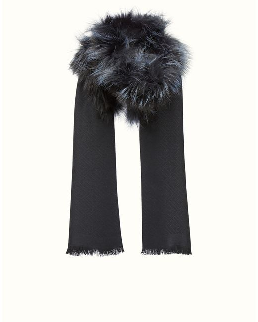 Fendi   Black Touch Of Fur Stole Touch Of Fur Stole   Lyst