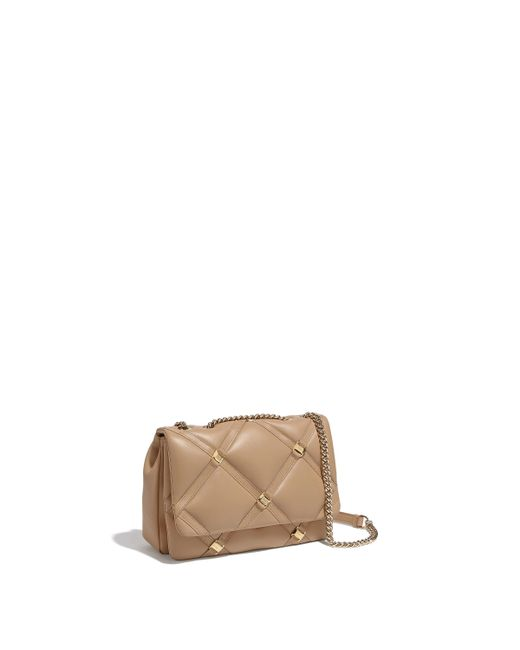 27e12c30f7a0 Ferragamo - Natural Vara Chain Flap Bag - Lyst ...