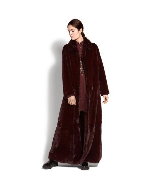 Ferragamo - Multicolor Full Length Mink Fur Coat - Lyst