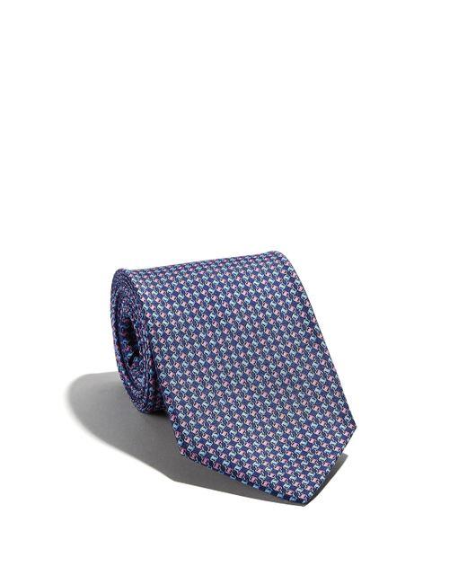 Ferragamo - Blue Vara Chain Printed Tie for Men - Lyst