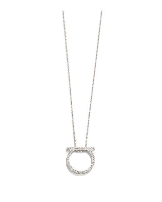Ferragamo - Metallic Gancini Necklace - Lyst