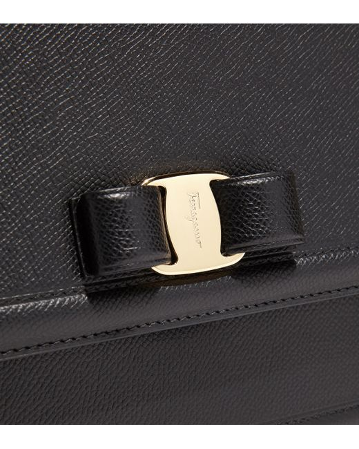 077387453777 ... Ferragamo - Black Vara Bow Flap Bag - Lyst ...