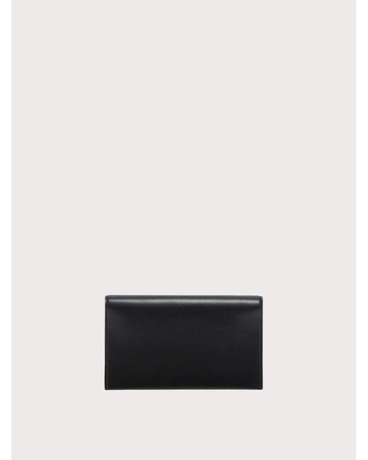 Mini sac Gancini Ferragamo en coloris Black