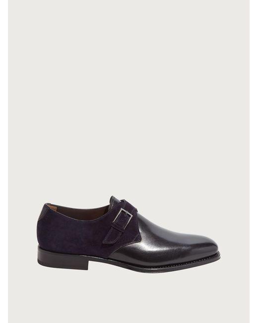 Ferragamo Black Single Monk-strap for men