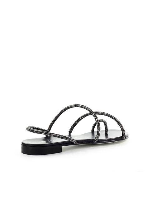 Grey Mer Mini Campari Zwart Platte Sandaal in het Black