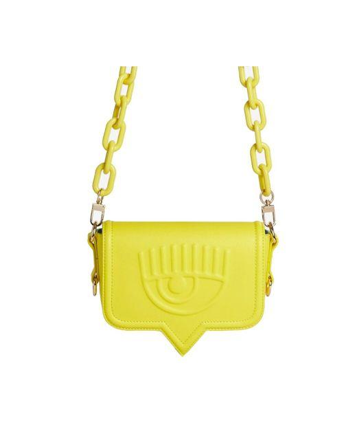 Chiara Ferragni Eyelike Gele Klein Crossbody Tas in het Yellow voor heren