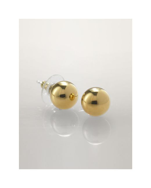 Pink Pony | Metallic Gold Ball Studs | Lyst