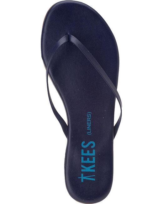 Tkees Liner Flip Flops Twilight Blue Leather In Blue  Lyst-6767