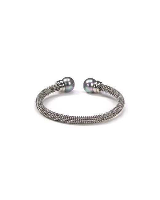 Majorica | Metallic Gray Pearlcap Bangle Silver | Lyst