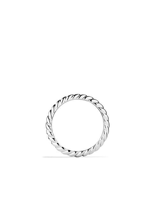 David Yurman | Metallic Cable Wedding Band In Platinum | Lyst
