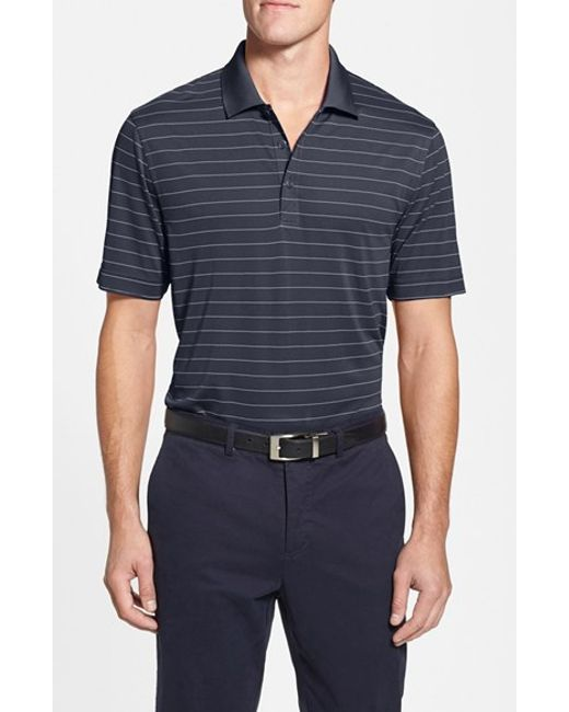 Cutter & Buck | Black 'franklin' Stripe Drytec Polo for Men | Lyst