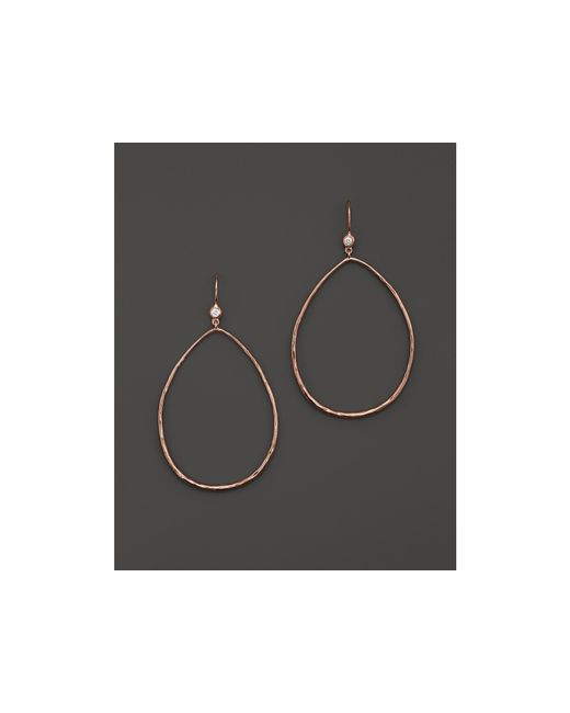 Ippolita | Pink Rose Large Glamazon Hammered Pear Drop Earrings | Lyst