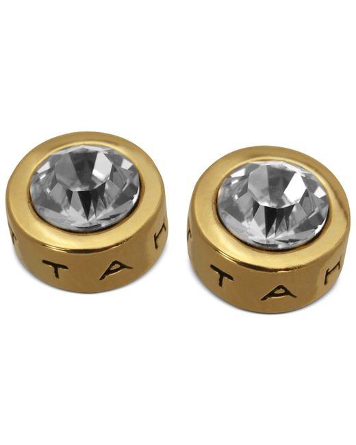 T Tahari | Metallic Earrings, 14k Gold-plated Crystal Stud Earrings | Lyst