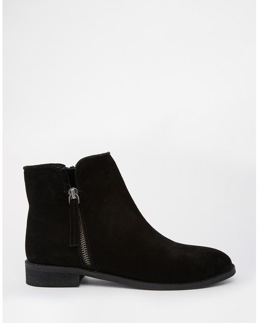 asos airwave suede ankle boots in black save 51 lyst