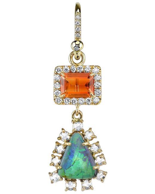 Irene Neuwirth | Green Diamond Tear Drop Earrings | Lyst