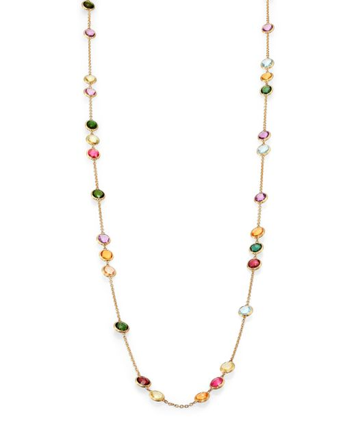 Marco Bicego | Metallic Mini Jaipur Semi-precious Multi-stone Long Station Necklace | Lyst