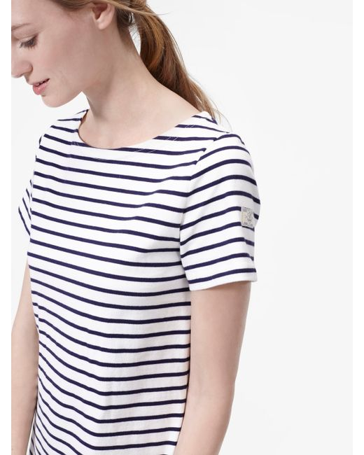 Joules riviera jersey t shirt dress in blue cream save for Joules riviera jersey t shirt dress