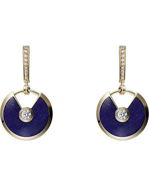 Cartier | Blue Amulette De 18ct Yellow-gold | Lyst