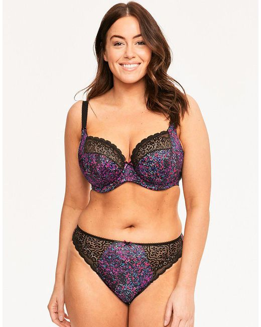 b0b45bf1db3be ... Elomi - Multicolor Jodi Underwired Plunge Bra - Lyst ...
