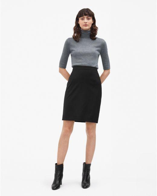 Filippa K - Cool Wool Pencil Skirt Black - Lyst