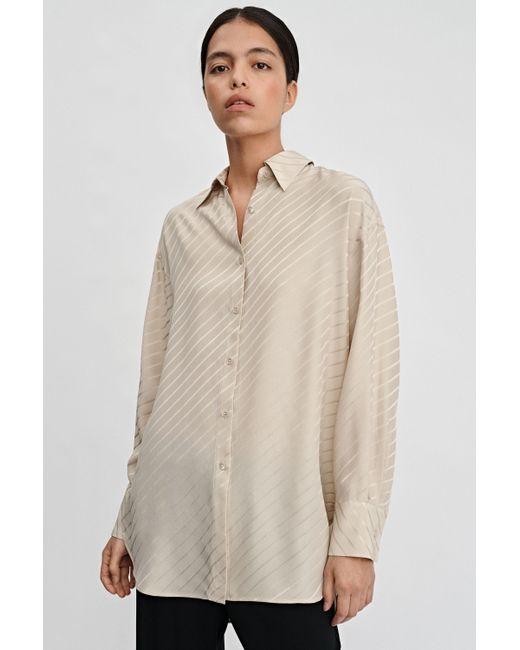 Filippa K Natural Nina Silk Shirt