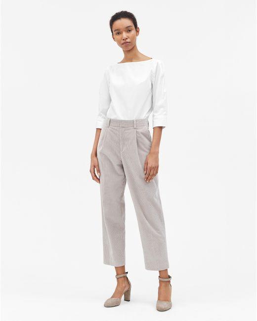 Filippa K - Gray Simone Cord Trousers Stone - Lyst