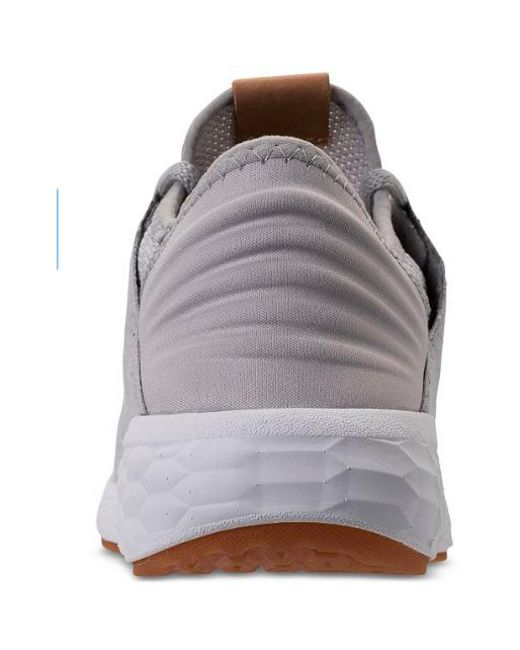 best service aca1f dfc92 New Balance - Gray Women Fresh Foam Cruz V2 Knit Wcruzkg2 Sneakers, Rain  Cloud  ...