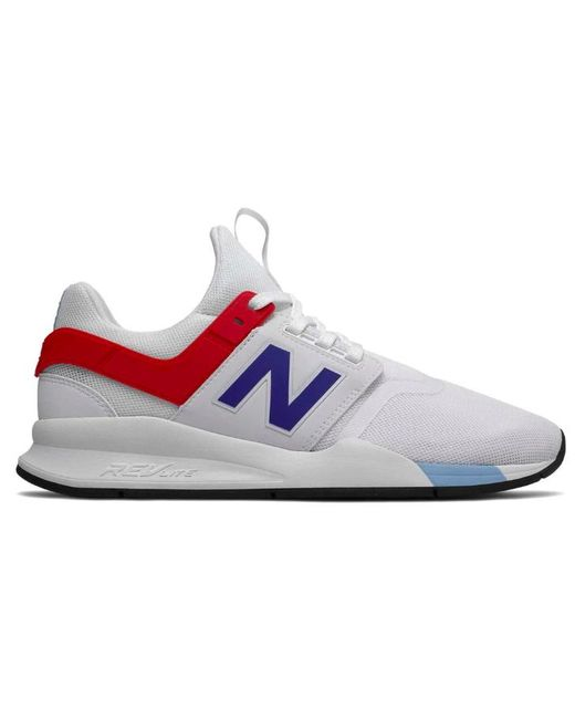 dcaf03a245482 New Balance - Multicolor Ms247fo Casual Sneakers, Munshell Whitie/team  Royal for Men ...