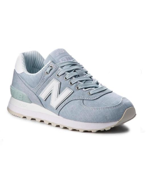 the latest 87fe8 17421 Women's 574 Casual Sneakers Wl574chf, Light Porcelain Blue/white