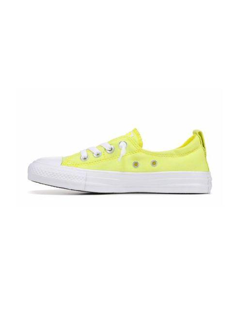 Chuck Taylor All Star Women Shoreline Slip on Sneakers, Fresh Yellow