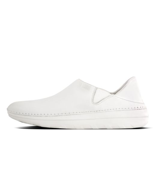 63dbcd22e50 Fitflop - White Superloafer - Lyst Fitflop - White Superloafer - Lyst ...