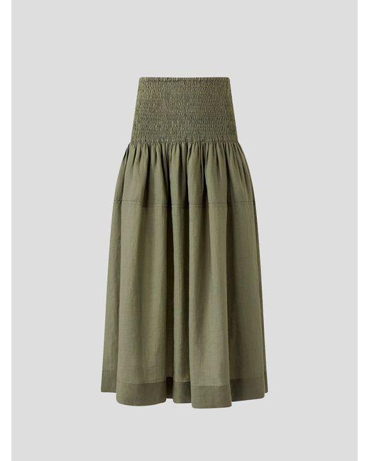 Joseph Ramie Voile Green Senzo Skirt