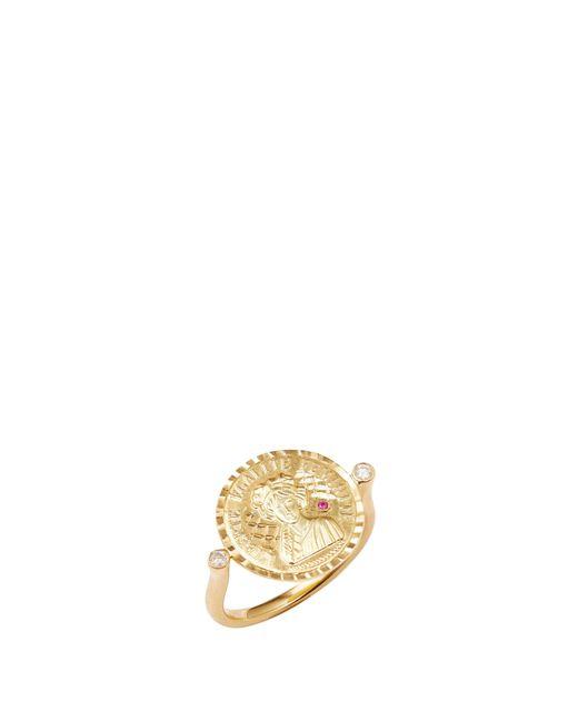 Anissa Kermiche Metallic Louise D'or Ruby 18-karat Gold Diamond Ring