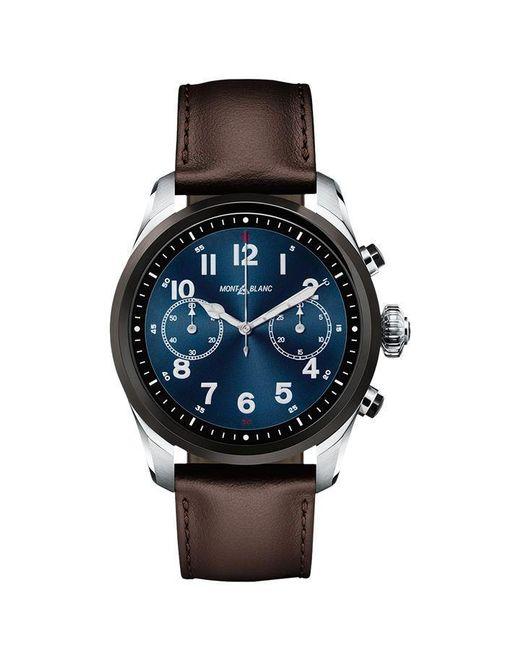 Montblanc Metallic Summit 2 Bicolour Steel Leather Smart Watch for men