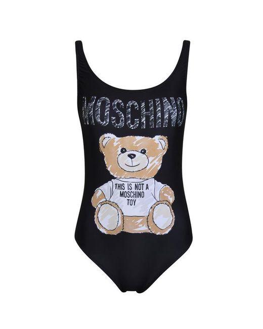 Moschino Black Bear Swimsuit