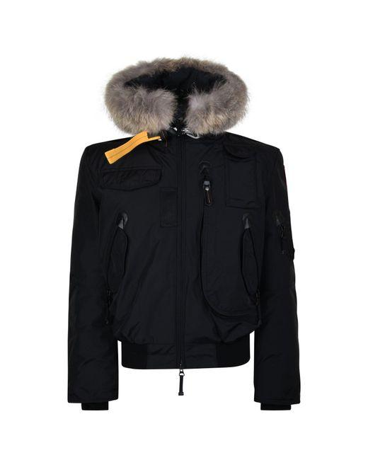 Parajumpers - Black Gobi Fur Bomber Jacket for Men - Lyst ...