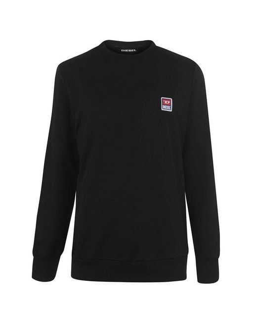 DIESEL Black Chest Logo Sweatshirt for men