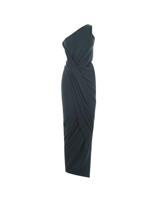 Vivienne Westwood Anglomania Blue Angled Shoulder Dress