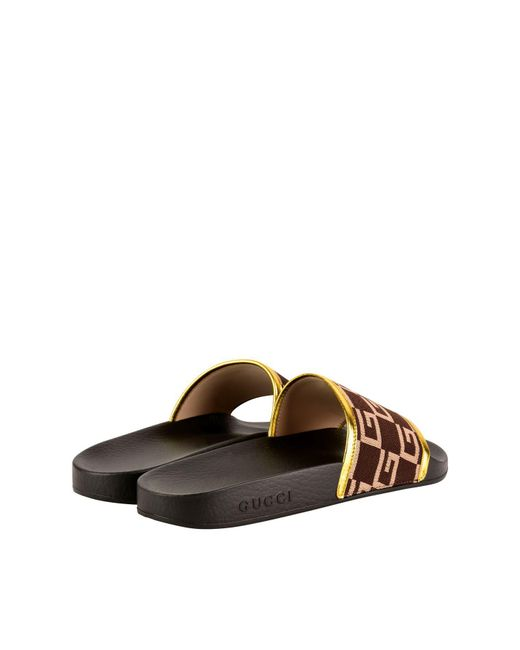847c634e91f7ff Lyst - Gucci Gg Sliders in Brown for Men - Save 60%