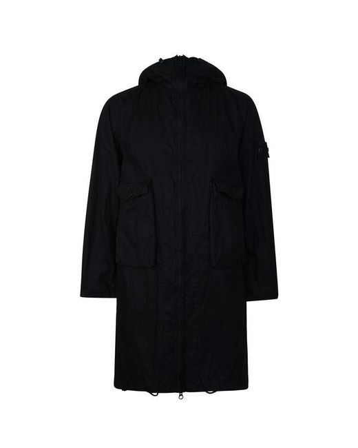 Stone Island Black Ghost Collection Hooded Parka Jacket for men